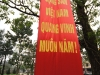 Tet 2011 (New Year) celebration banner near the Trang Tien Bridge