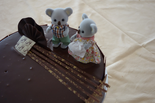 The Sunday wedding cake with Sylvania koalas