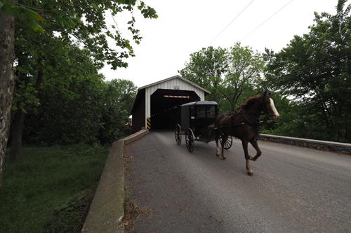 Eshleman's Covered Bridge, built 1845, rebuilt 1883