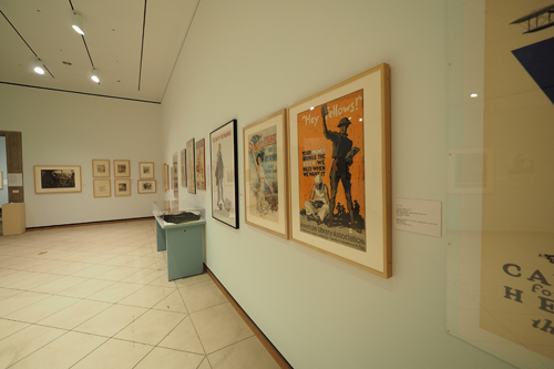 WWI Poster exhibition, Johnston Museum of Art, Cornell University