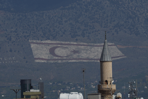 The Turkish flag on the 'other side'