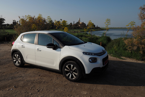 Citroën C3 and the Hala Sultan Tekke